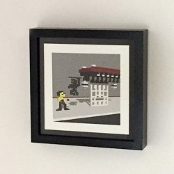 bruce-lee-voxel-on-wall