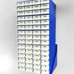 Resistor box on wall mount