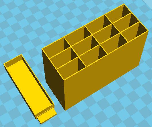 Storage box and drawer STL